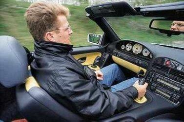 Управление автомобилем при помощи джойстика