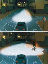 Работа адаптивного света